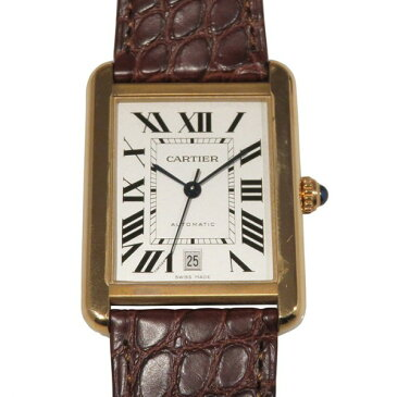 カルティエ CARTIER タンク ソロ XL W5200026 シルバー文字盤 メンズ 腕時計 【新品】