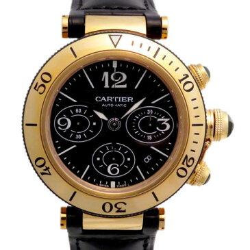 【最大9万円OFFクーポン!12/1(土)0時開始】カルティエ CARTIER パシャ シータイマー クロノグラフ W3030017 ブラック文字盤 メンズ 腕時計 【新品】