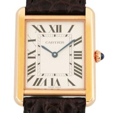 カルティエ CARTIER タンク ソロ LM W5200025 シルバー文字盤 メンズ 腕時計 【新品】