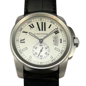 カルティエ CARTIER カリブル ドゥ カルティエ W7100037 ホワイト文字盤 メンズ 腕時計 【新品】