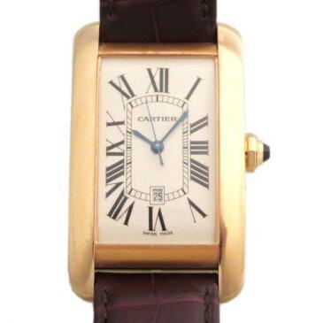カルティエ CARTIER タンク アメリカン LM W2609156 ホワイト文字盤 メンズ 腕時計 【新品】