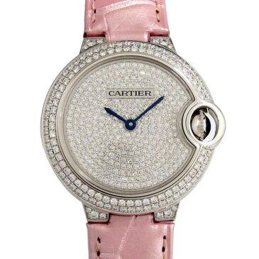 カルティエ CARTIER バロンブルー WE902047 全面ダイヤ文字盤 レディース 腕時計 【新品】
