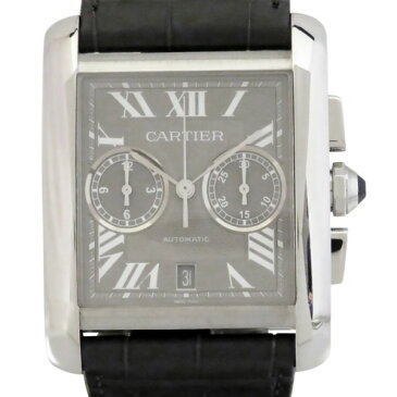 カルティエ CARTIER タンク MC クロノグラフ W5330008 グレー文字盤 メンズ 腕時計 【新品】