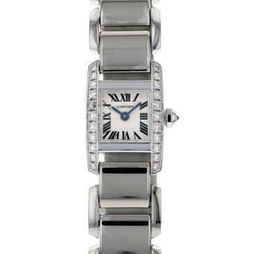 カルティエ CARTIER タンキッシム SM ベゼルダイヤ WE70069H ホワイト文字盤 レディース 腕時計 【中古】