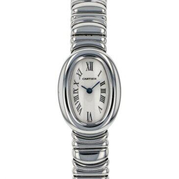 カルティエ CARTIER ベニュワール ミニ W15189L2 ホワイト文字盤 レディース 腕時計 【中古】