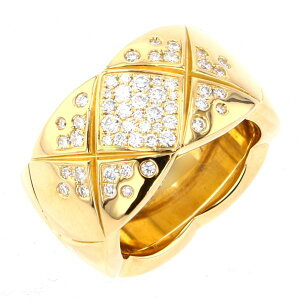 [Triple points for a limited time 8/2 8/9] Chanel Coco Crash Ring K18YG Yellow Gold Used