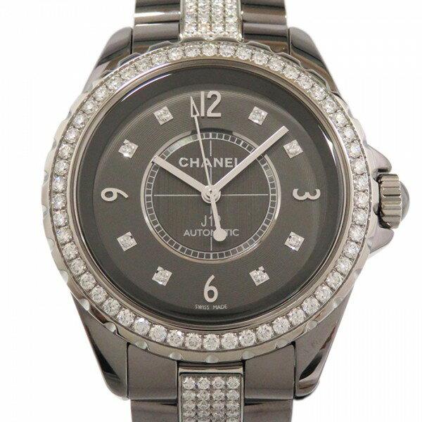 シャネル CHANEL J12 クロマティック 38mm ベゼル・ブレスダイヤ H3106 グレー文字盤 新品 腕時計 メンズ