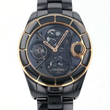 シャネル CHANEL J12 レトログラード ミステリユーズ H2556 ブラック文字盤 中古 腕時計 メンズ