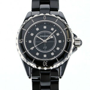 [Limited time point triple 8/2 8/9] Chanel CHANEL J12 33mm H1625 Black Dial New Watch Ladies