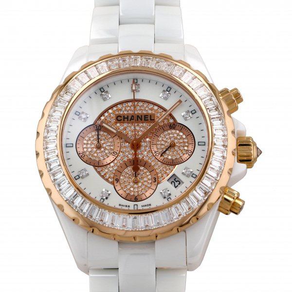 シャネル CHANEL J12 H2138 ホワイト文字盤 中古 腕時計 メンズ