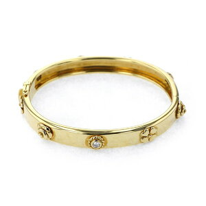 [Limited time point triple 8/2 8/9] Chanel Three Symbol 3P type bracelet K18YG Yellow Gold Used