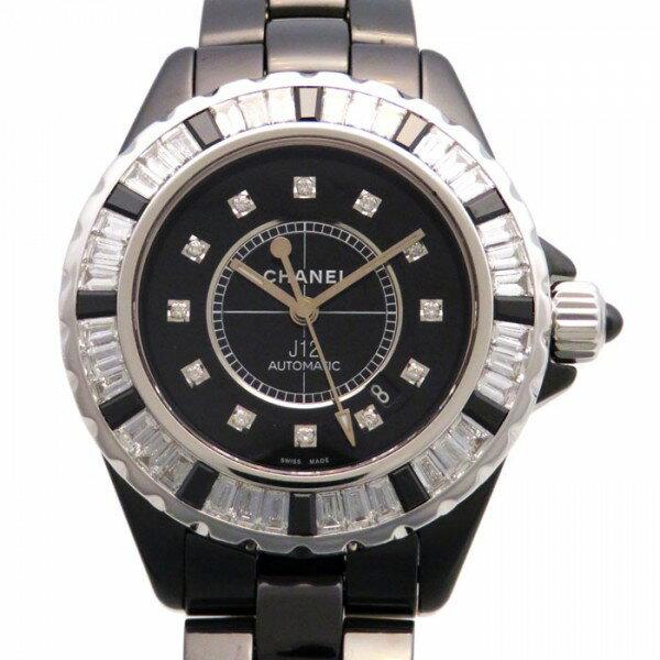 シャネル CHANEL J12 H2022 ブラック文字盤 新古品 腕時計 レディース