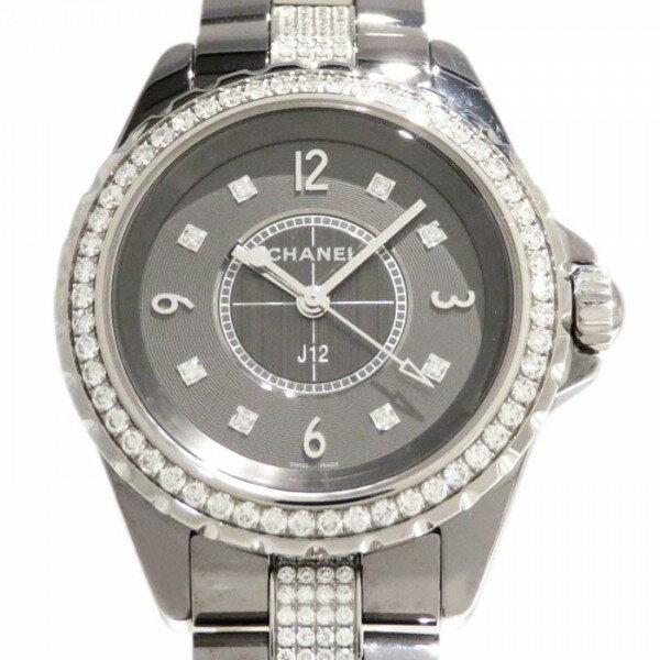 シャネル CHANEL J12 クロマティック 33mm ベゼル・ブレスダイヤ H3105 グレー文字盤 未使用 腕時計 レディース