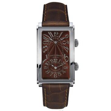 クエルボ・イ・ソブリノス CUERVO Y SOBRINOS プロミネンテ デュアルタイム 1112-1TG タバコカラー文字盤 メンズ 腕時計 【新品】