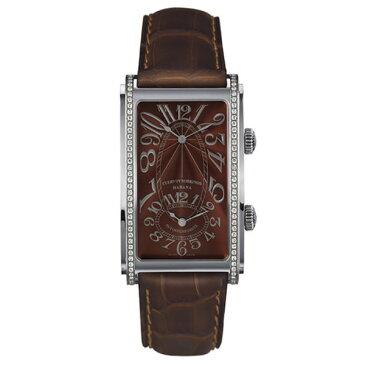 クエルボ・イ・ソブリノス CUERVO Y SOBRINOS プロミネンテ デュアルタイム 1112-1TG-S1 タバコカラー文字盤 メンズ 腕時計 【新品】