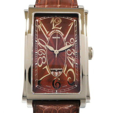 クエルボ・イ・ソブリノス CUERVO Y SOBRINOS プロミネンテ ソロテンポ デイト 1012-1TG タバコカラー文字盤 メンズ 腕時計 【新品】