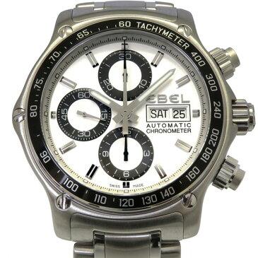 エベル EBEL その他 ディスカバリー クロノグラフ 1215795 シルバー文字盤 メンズ 腕時計 【中古】