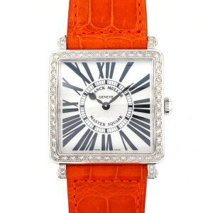 FRANCK MULLER Master Square Bezel Diamond 6002 MB QZ RD 1R Silver Dial Ladies Wrist Watch [New]