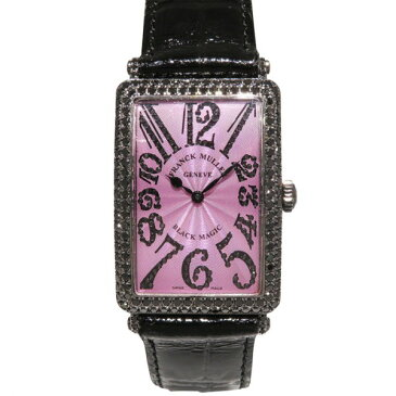 フランク・ミュラー FRANCK MULLER ロングアイランド ブラックマジック ケースダイヤ 世界400本限定 1000SC D パープル文字盤 レディース 腕時計 【中古】
