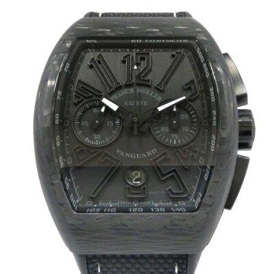 fec4908e37 フランク・ミュラー FRANCK MULLER ヴァンガード クロノグラフ V45CC DT CARBON NR ブラック文字盤 メンズ 腕時計  【新品】
