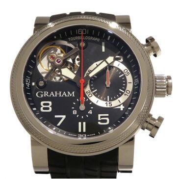 グラハム GRAHAM トラックマスタートゥールビヨン 2TWTS.B05A ブラック文字盤 メンズ 腕時計 【中古】
