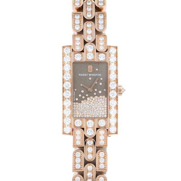 ハリー・ウィンストン HARRY WINSTON アヴェニュー ダイヤモンド ドロップ AVEQHM21RR121 グレー文字盤 新品 腕時計 レディース