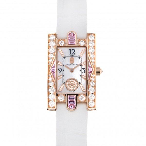 ハリー・ウィンストン HARRY WINSTON アヴェニュー クラシック オーロラ AVEQHM21RR125 ホワイト文字盤 新品 腕時計 レディース