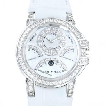 ハリー・ウィンストン HARRY WINSTON オーシャン トリレトロ クロノグラフ ダイヤモンドケース OCEACT44WW002 ホワイト文字盤 新品 腕時計 メンズ