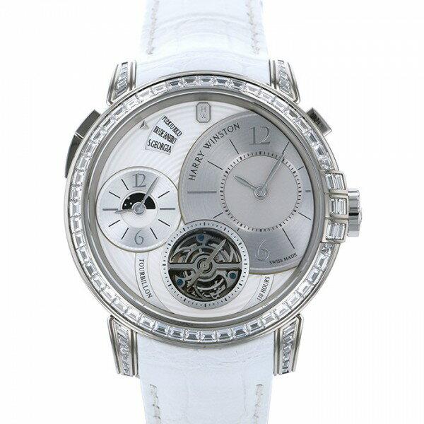 ハリー・ウィンストン HARRY WINSTON ミッドナイト トゥールビヨン 世界限定5本 450/MATTZ45W ホワイト文字盤 メンズ 腕時計 【新品】