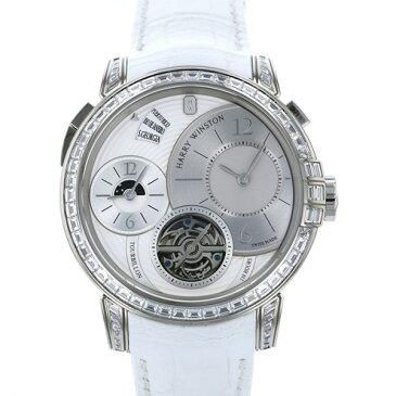 【ポイントバックセール 3%ポイント還元】 ハリー・ウィンストン HARRY WINSTON ミッドナイト トゥールビヨン 世界限定5本 450/MATTZ45W ホワイト文字盤 メンズ 腕時計 【新品】