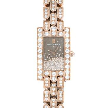 【ポイントバックセール 3%ポイント還元】 ハリー・ウィンストン HARRY WINSTON アヴェニュー ダイヤモンド ドロップ AVEQHM21RR121 グレー文字盤 レディース 腕時計 【新品】