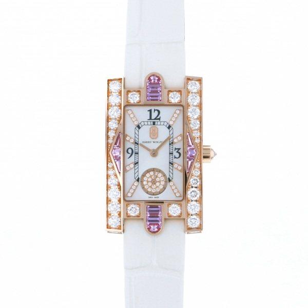 【限定 ポイント10倍 3/21〜】ハリー・ウィンストン HARRY WINSTON アヴェニュー AVEQHM21RR125 ホワイト文字盤 レディース 腕時計 【新品】