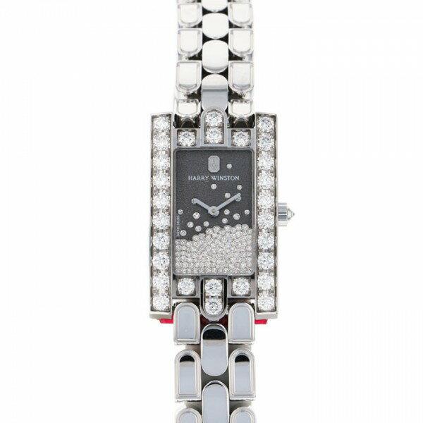 【限定 ポイント10倍 3/21〜】ハリー・ウィンストン HARRY WINSTON アヴェニュー AVEQHM21WW281 ブラック文字盤 レディース 腕時計 【新品】