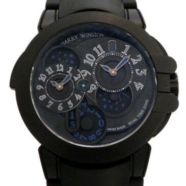 ハリー・ウィンストン HARRY WINSTON オーシャン デュアルタイム ブラックエディション ザリウム OCEATZ44ZZ007 ブラック文字盤 メンズ 腕時計 【新品】