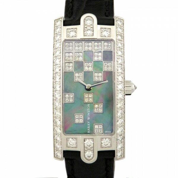 【限定 ポイント10倍 3/21〜】ハリー・ウィンストン HARRY WINSTON アヴェニュー C ベゼルダイヤ AVCQHM19WW125 ブラック文字盤 レディース 腕時計 【新品】