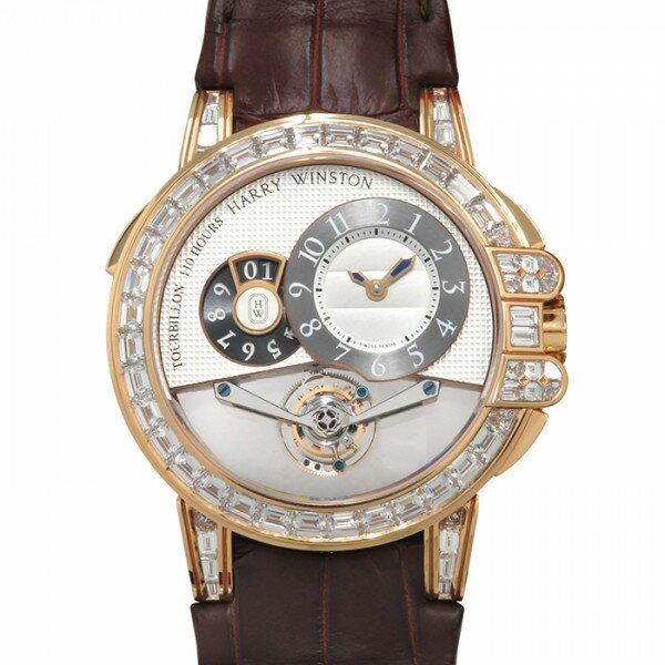 ハリー・ウィンストン HARRY WINSTON オーシャン トゥールビヨン ビッグデイト 世界限5本 OCEMTD45RR003 シルバー/ブラック文字盤 新品 腕時計 メンズ