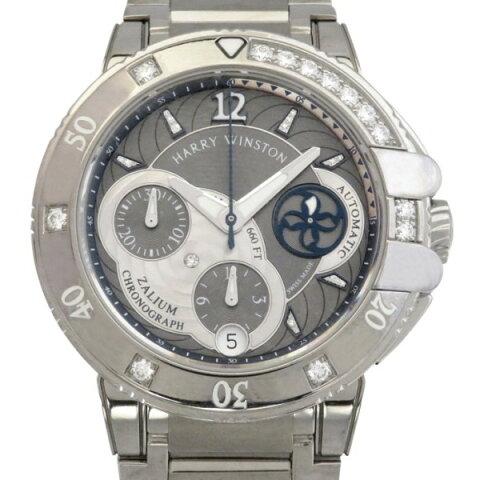 ハリー・ウィンストン HARRY WINSTON オーシャン スポーツ クロノグラフ OCSACH38ZZ007 グレー文字盤 レディース 腕時計 【新品】