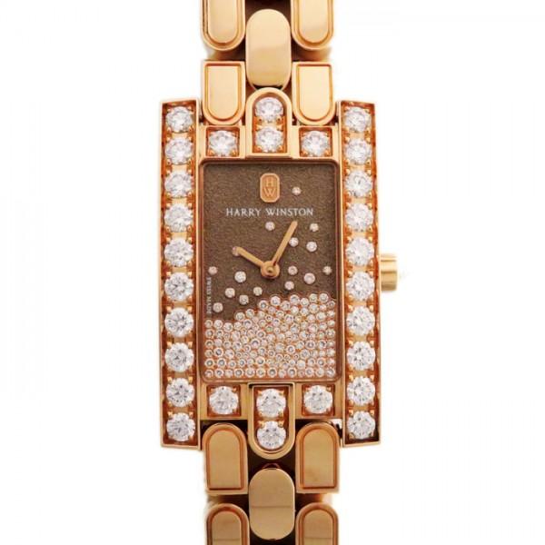 【限定 ポイント10倍 3/21〜】ハリー・ウィンストン HARRY WINSTON アヴェニュー ダイヤモンド ドロップ AVEQHM21RR120 チョコレート文字盤 レディース 腕時計 【新品】