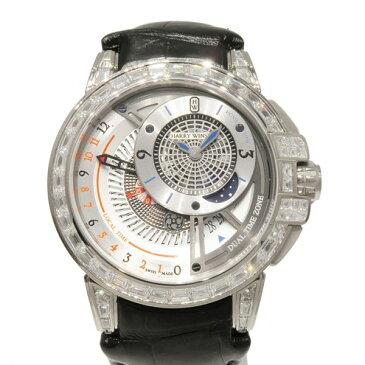 【ポイントバックセール 3%ポイント還元】 ハリー・ウィンストン HARRY WINSTON オーシャン デュアルタイム オートマティック OCEATZ44WW013 シルバー文字盤 メンズ 腕時計 【新品】