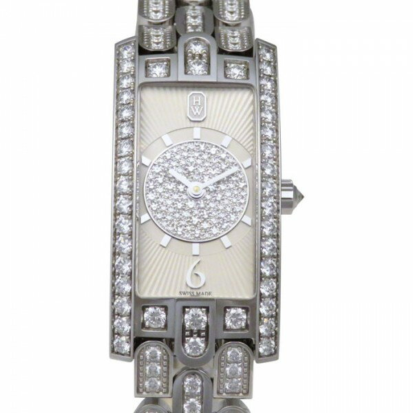 【限定 ポイント10倍 3/21〜】ハリー・ウィンストン HARRY WINSTON アヴェニュー C アールデコ ダイヤモンド AVCQHM19WW135 シルバー文字盤 レディース 腕時計 【新品】