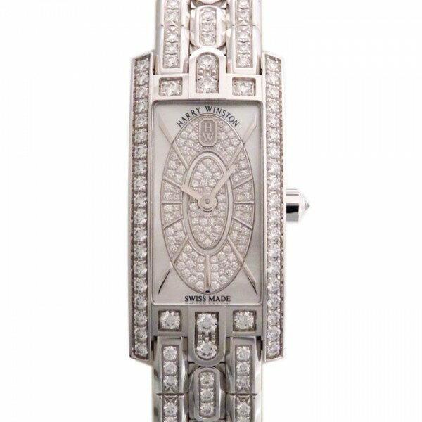 【限定 ポイント10倍 3/21〜】ハリー・ウィンストン HARRY WINSTON アヴェニュー C ミニ・エリプティック AVCQHM16WW054 ホワイト文字盤 レディース 腕時計 【新品】