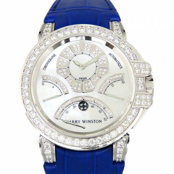 ハリー・ウィンストン HARRY WINSTON オーシャン リレトロ クロノグラフ ベゼルダイヤ OCEACT44WW002 ホワイト文字盤 メンズ 腕時計 【新品】