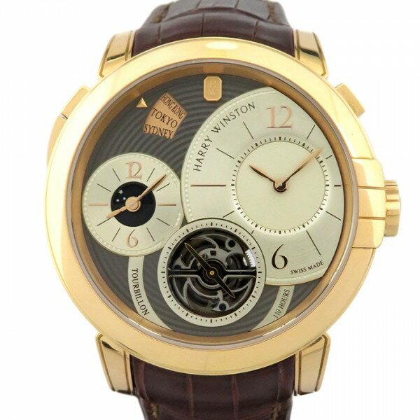 ハリー・ウィンストン HARRY WINSTON ミッドナイト GMT トゥールビヨン MIDATG45RR001 グレー/シルバー文字盤 メンズ 腕時計 【新品】