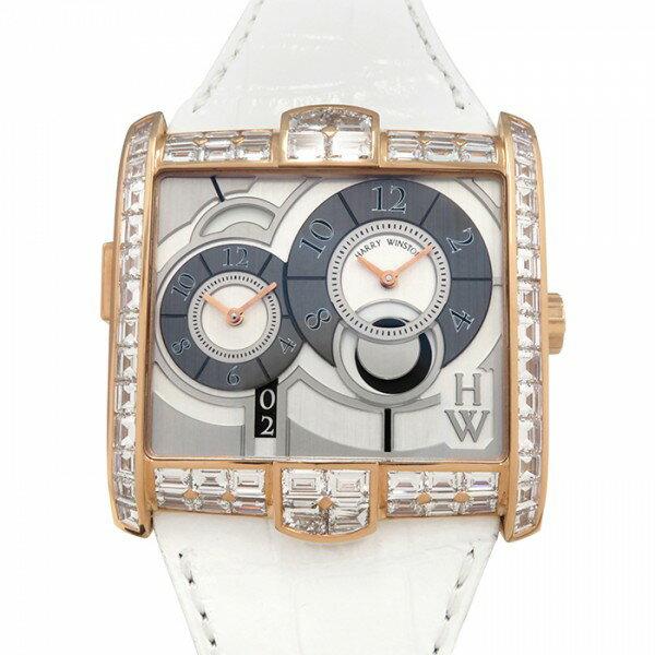 ハリー・ウィンストン HARRY WINSTON アヴェニュー スクエアード AVSATZ45RR001 シルバー文字盤 メンズ 腕時計 【未使用】