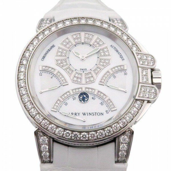 ハリー・ウィンストン HARRY WINSTON オーシャン トリプルレトログラード ベゼルダイヤ 400/MCRA44WL.MD/D3.1 ホワイト文字盤 メンズ 腕時計 【中古】