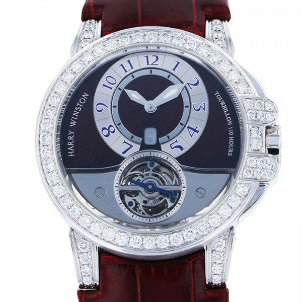 ハリー・ウィンストン HARRY WINSTON オーシャン トゥールビヨン 400M-44W グレー文字盤 メンズ 腕時計 【中古】