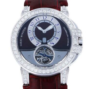 【ポイントバックセール 3%ポイント還元】 ハリー・ウィンストン HARRY WINSTON オーシャン トゥールビヨン 世界10本限定 400/MAT44W グレー/シルバー文字盤 メンズ 腕時計 【中古】