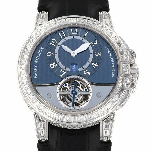 ハリー・ウィンストン HARRY WINSTON オーシャン トゥールビヨン 世界限定10本 400MAT44W ブルー文字盤 メンズ 腕時計 【中古】