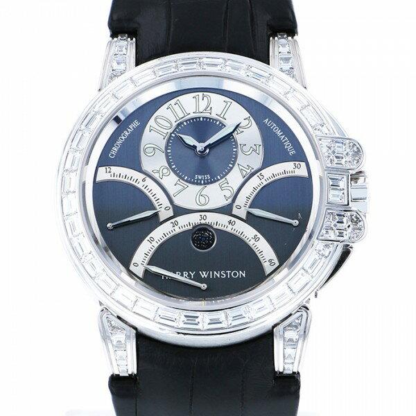 ハリー・ウィンストン HARRY WINSTON オーシャン ベゼルバケットダイヤ 世界限定10本 400-MCRA44W ブルー文字盤 メンズ 腕時計 【中古】