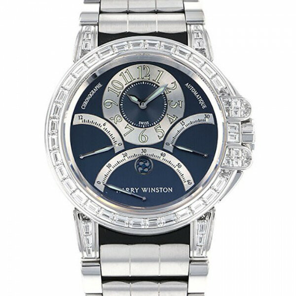 ハリー・ウィンストン HARRY WINSTON オーシャン トリプルレトログラード 400-MCRA44W ブラック文字盤 メンズ 腕時計 【未使用】